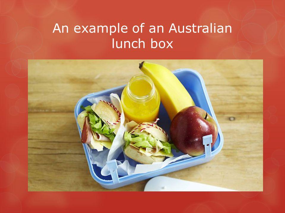 An example of an Australian lunch box