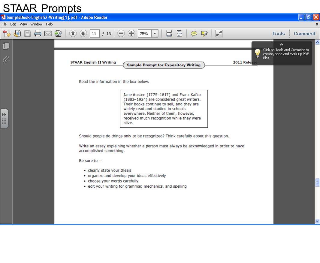 STAAR Prompts