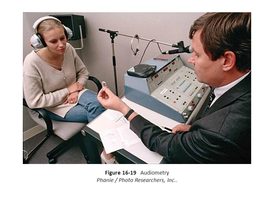 Figure 16-19 Audiometry Phanie / Photo Researchers, Inc..
