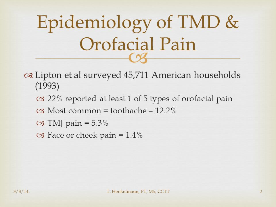   The conclusion is that malocclusion should not be considered a major factor in the etiology of TMD  Despite this, a lot of money is spent in dentist or orthodontist offices' correcting the bite  This can create potential conflict with orthodontists and neuromuscular dentists 3/8/14T.