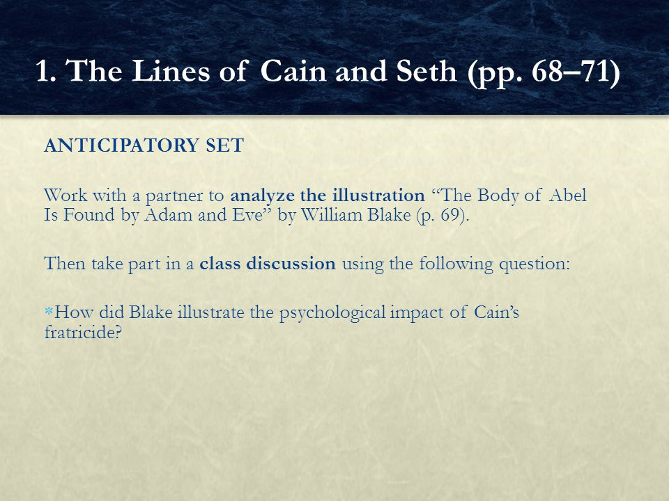 BASIC QUESTIONS  What was the character of the descendants of Cain.