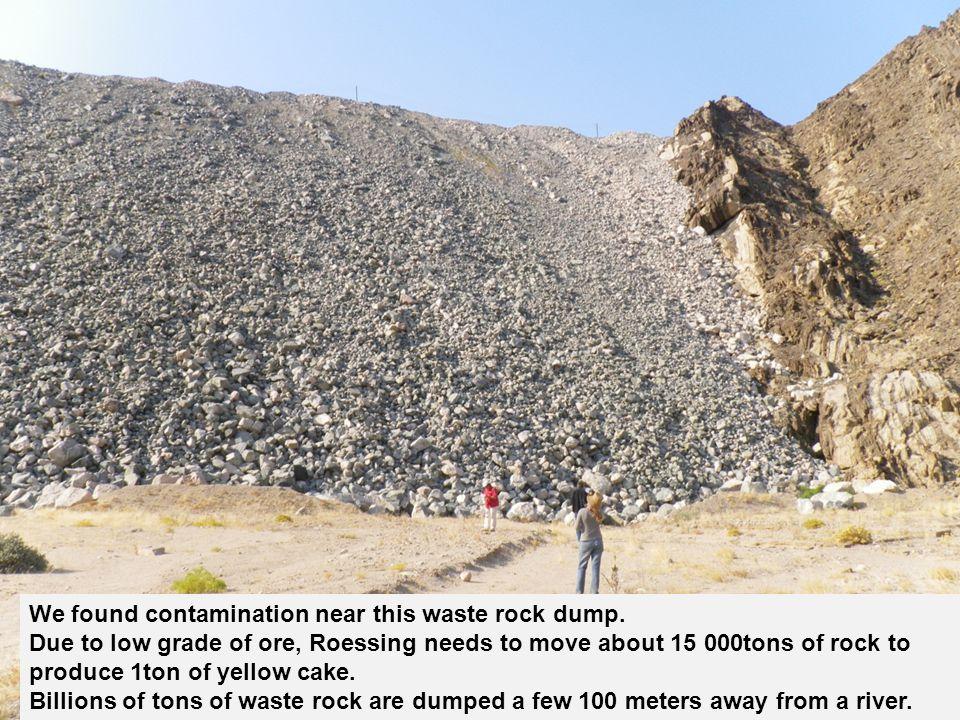 10 We found contamination near this waste rock dump.