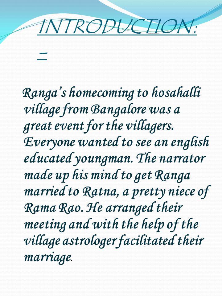 RANGA's MARRIAGE Writer:- Masti Venkatesha Iyengar