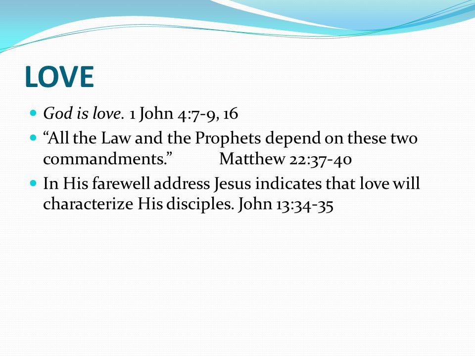 LOVE God is love.