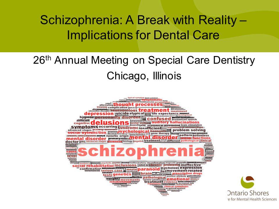 Patient Specific Factors in Schizophrenia FactorPrevalence in schizophrenia Prevalence in general pop.