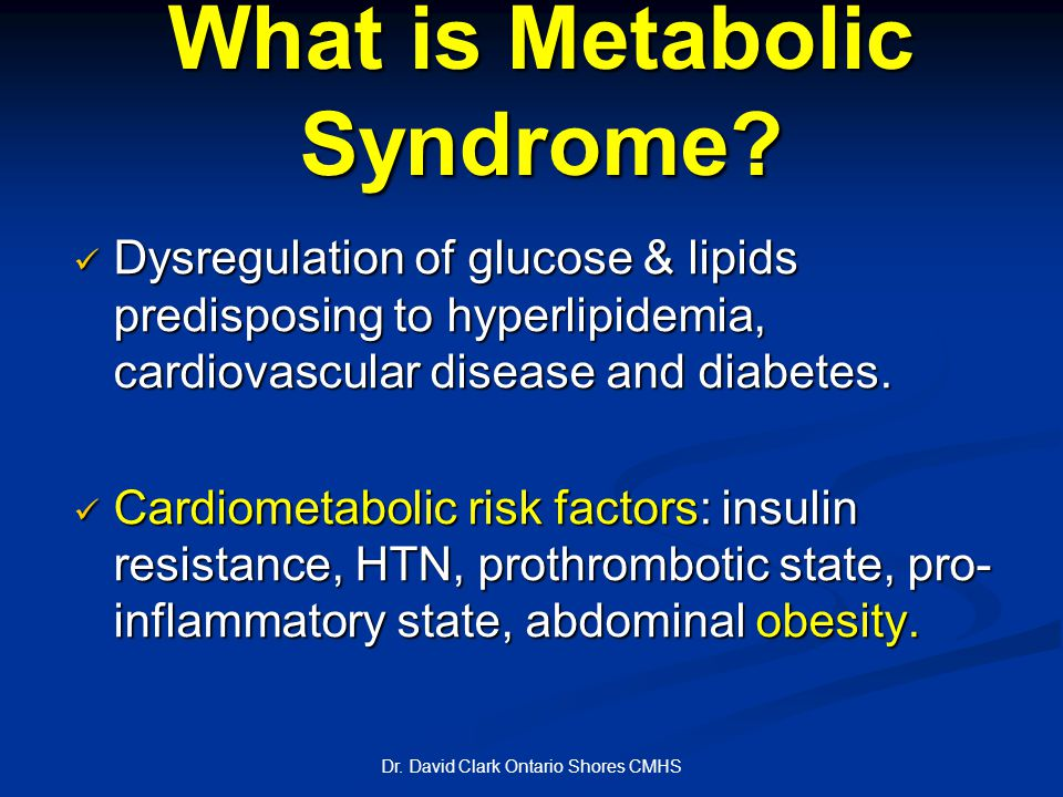 What is Metabolic Syndrome.