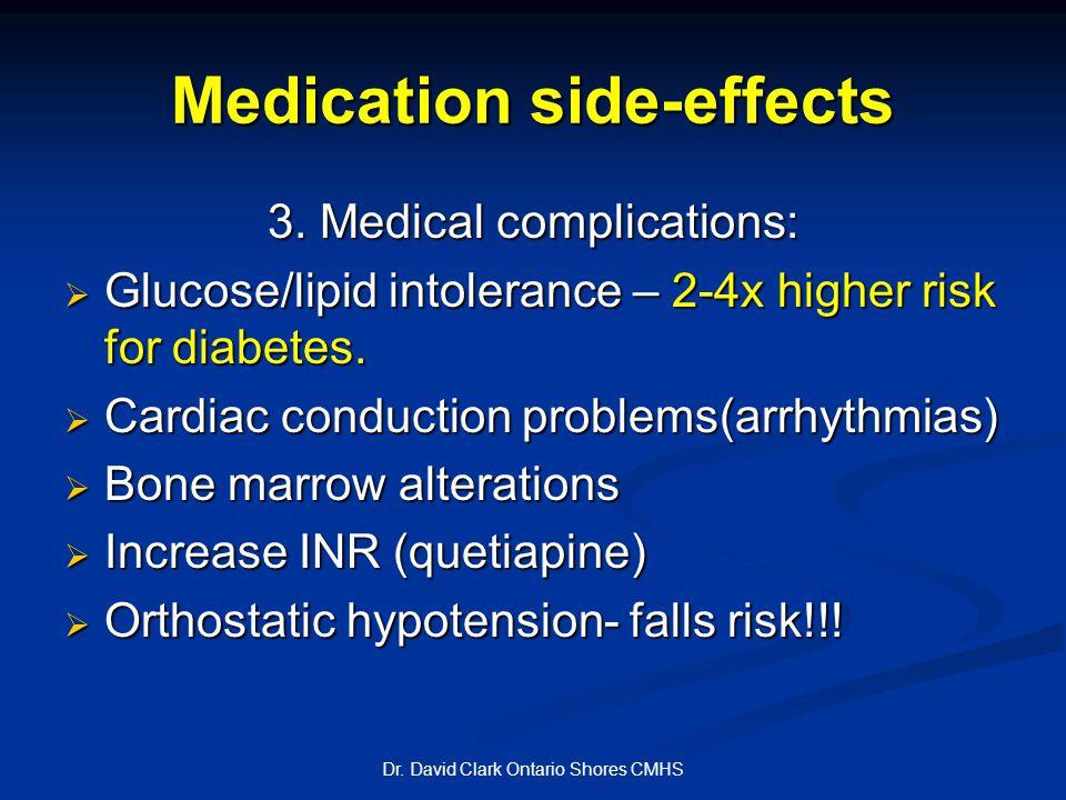 Medication side-effects 3.
