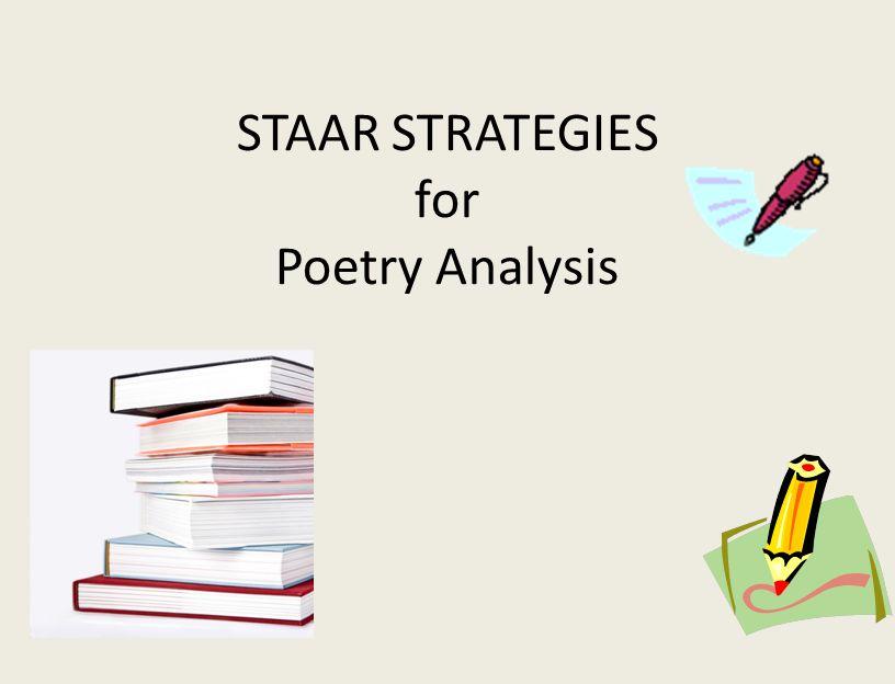 STAAR STRATEGIES for Poetry Analysis