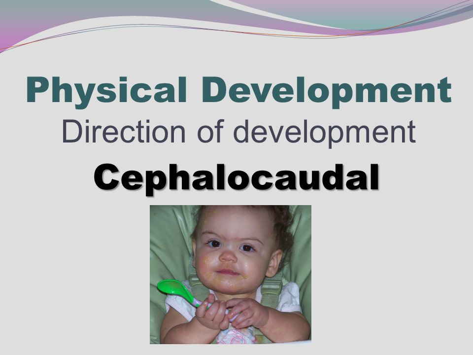 Physical Development Direction of development Cephalocaudal