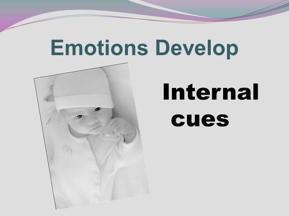 Internal cues Emotions Develop