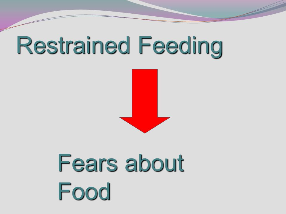 Restrained Feeding Fears about Food