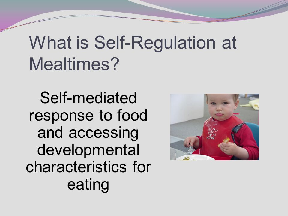 What is Self-Regulation at Mealtimes.