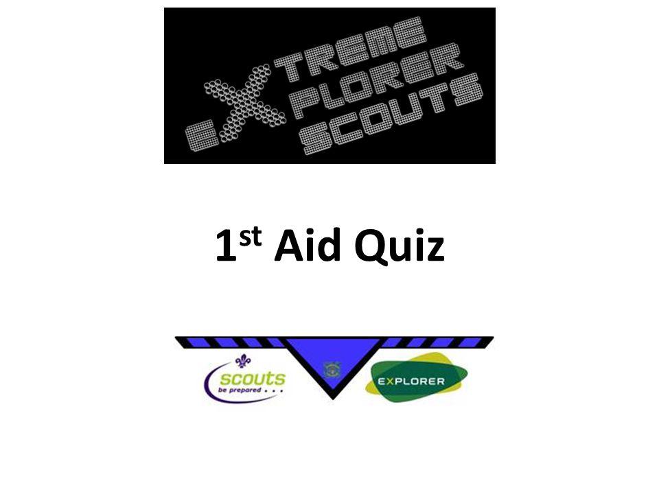 1 st Aid Quiz