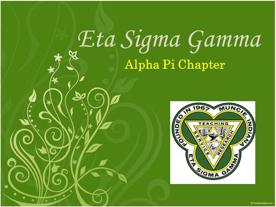 Eta Sigma Gamma Alpha Pi Chapter
