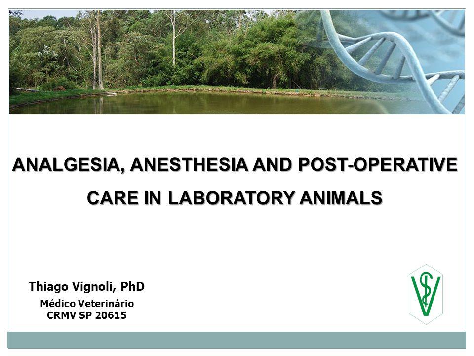 ANALGESIA, ANESTHESIA AND POST-OPERATIVE CARE IN LABORATORY ANIMALS Thiago Vignoli, PhD Médico Veterinário CRMV SP 20615