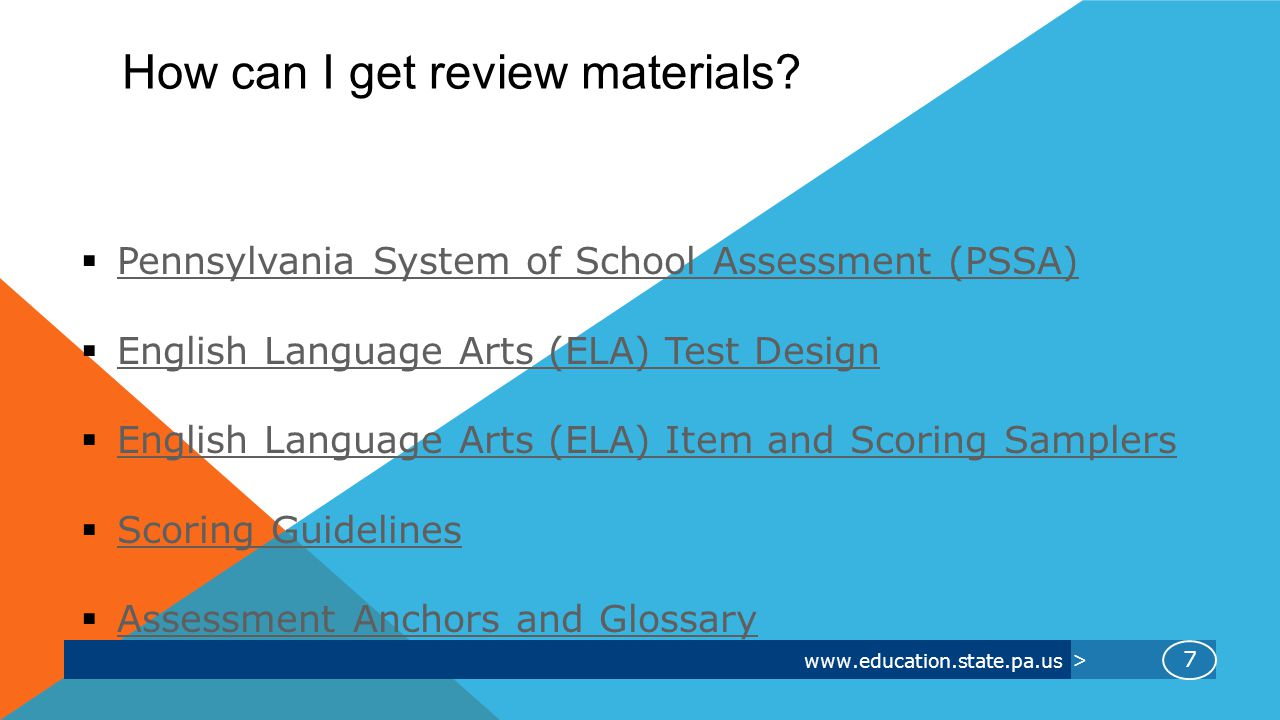 www.education.state.pa.us > How can I get review materials.