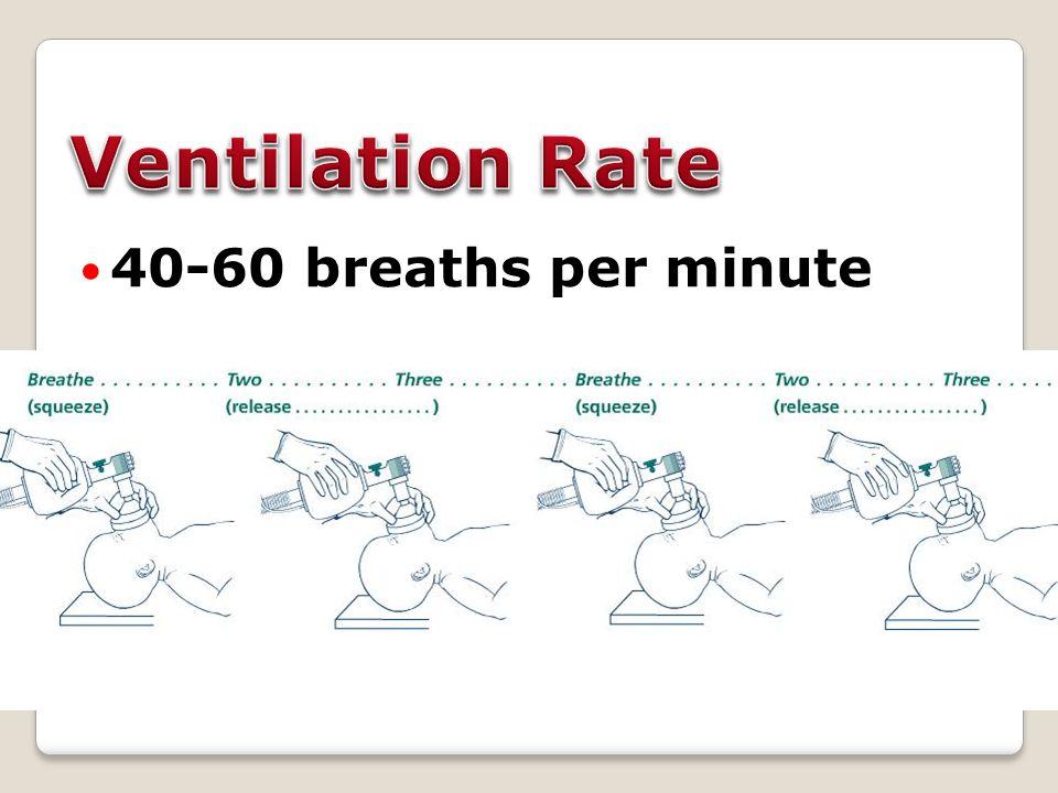 40-60 breaths per minute