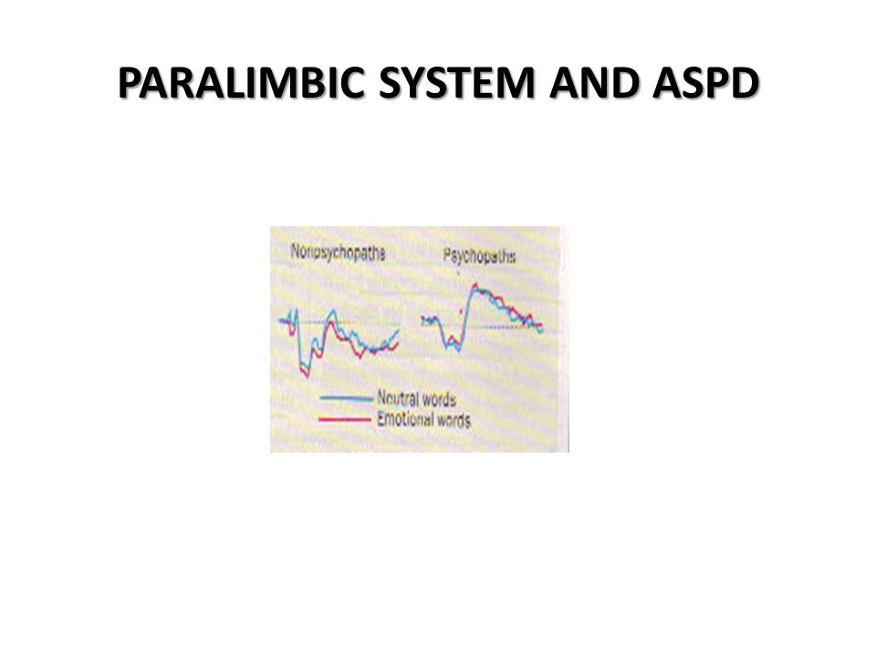 PARALIMBIC SYSTEM AND ASPD