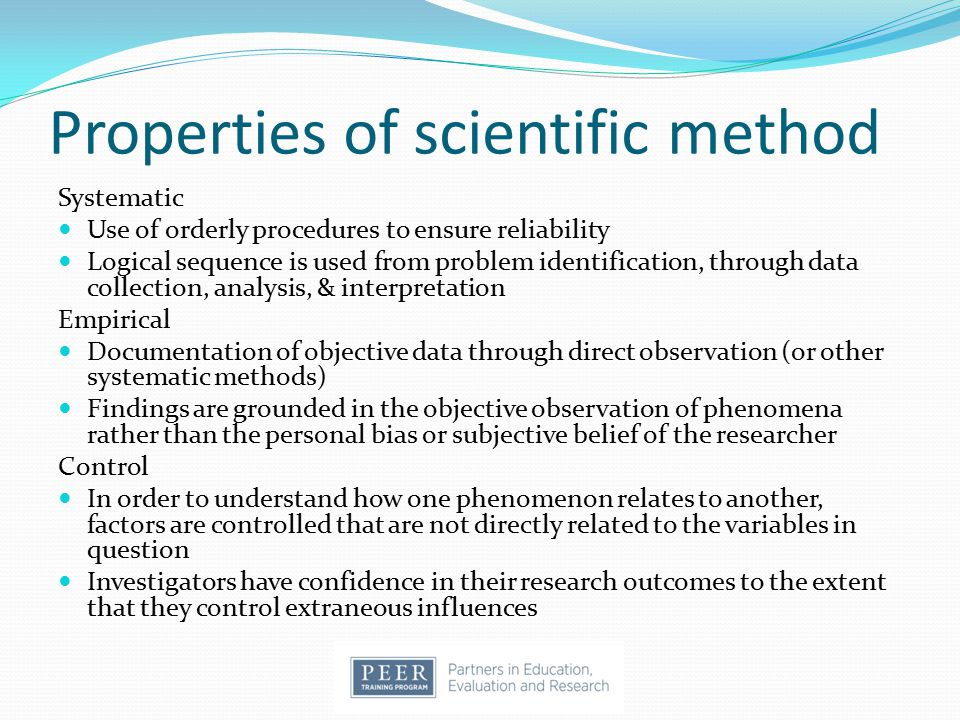 Experimental Research Provides a basis for comparing 2 or more conditions Controls or accounts for the effects of extraneous factors, providing the highest degree of confidence in the validity of outcomes Enables the researcher to draw meaningful conclusions about observed differences Randomized controlled trials, single subject designs, sequential clinical trials, evaluation research, quasi- experimental research, meta-analysis