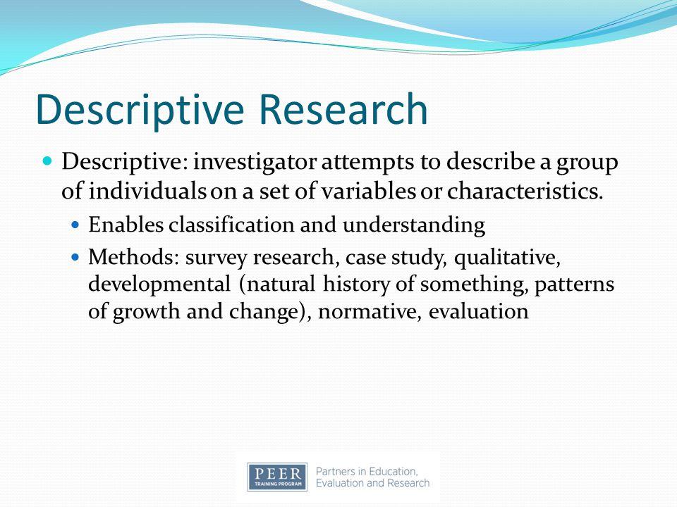 Choosing evaluation methods 20