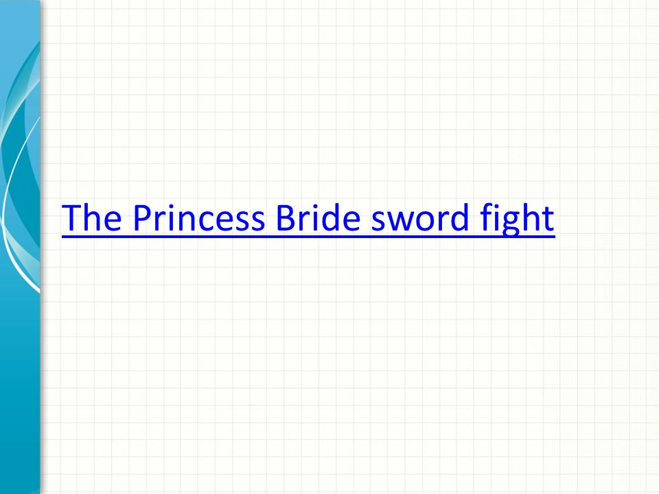 The Princess Bride sword fight