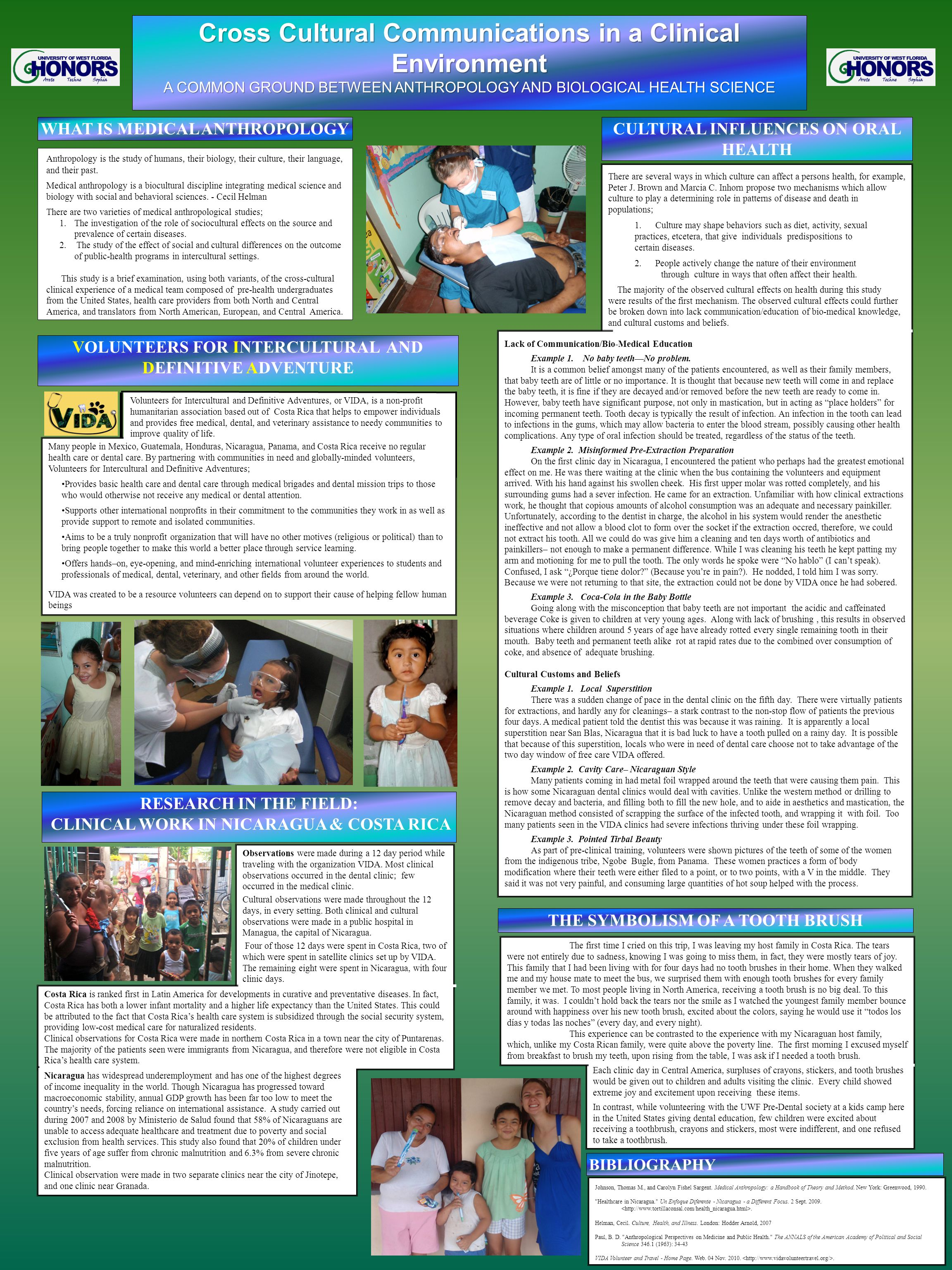 printed by www.postersession.com Many people in Mexico, Guatemala, Honduras, Nicaragua, Panama, and Costa Rica receive no regular health care or dental care.