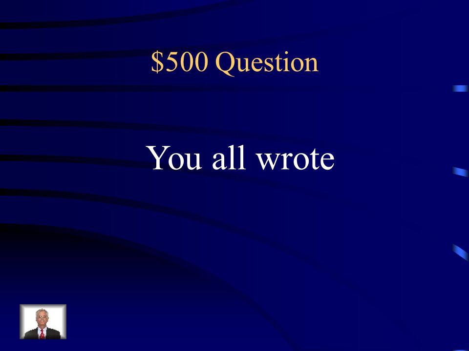 $400 Answer Ellos nadaron