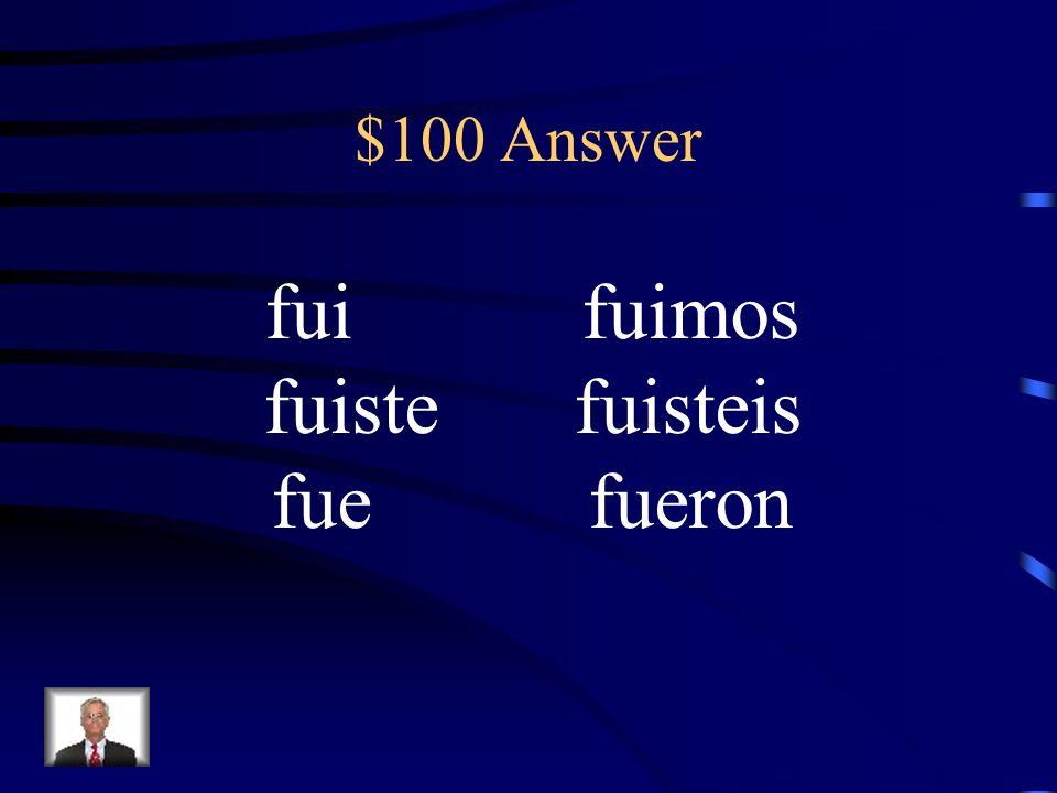 $100 Question Conjugate ser