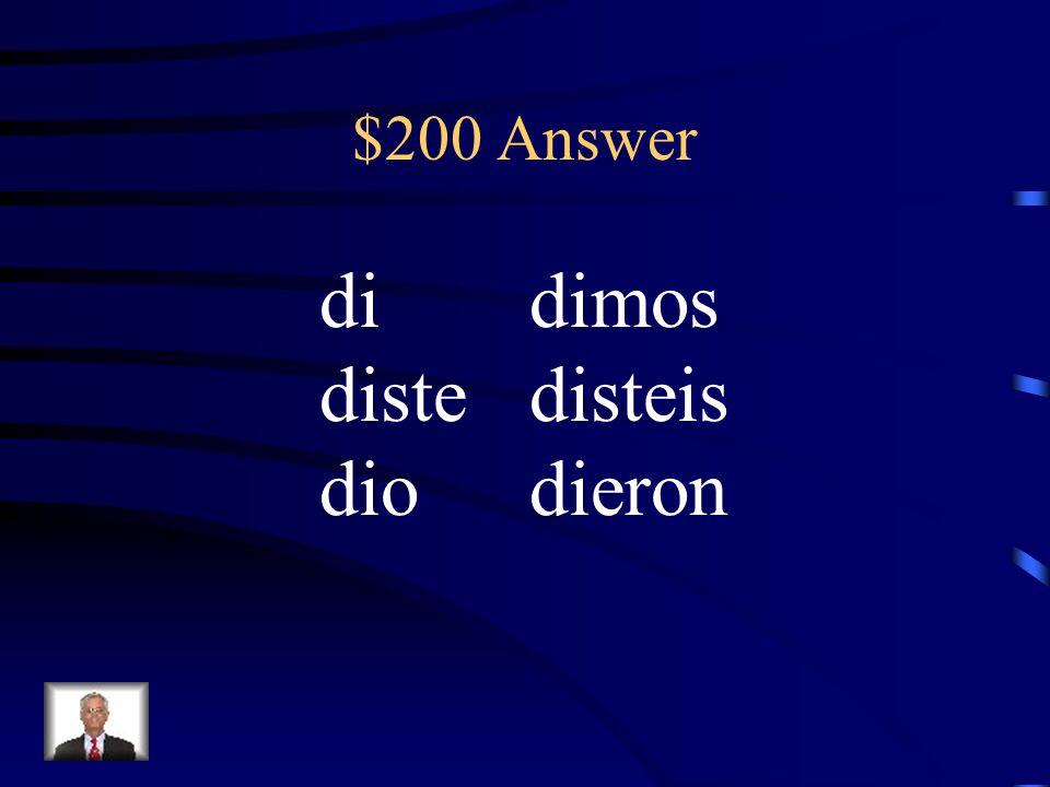 $200 Question Conjugate dar