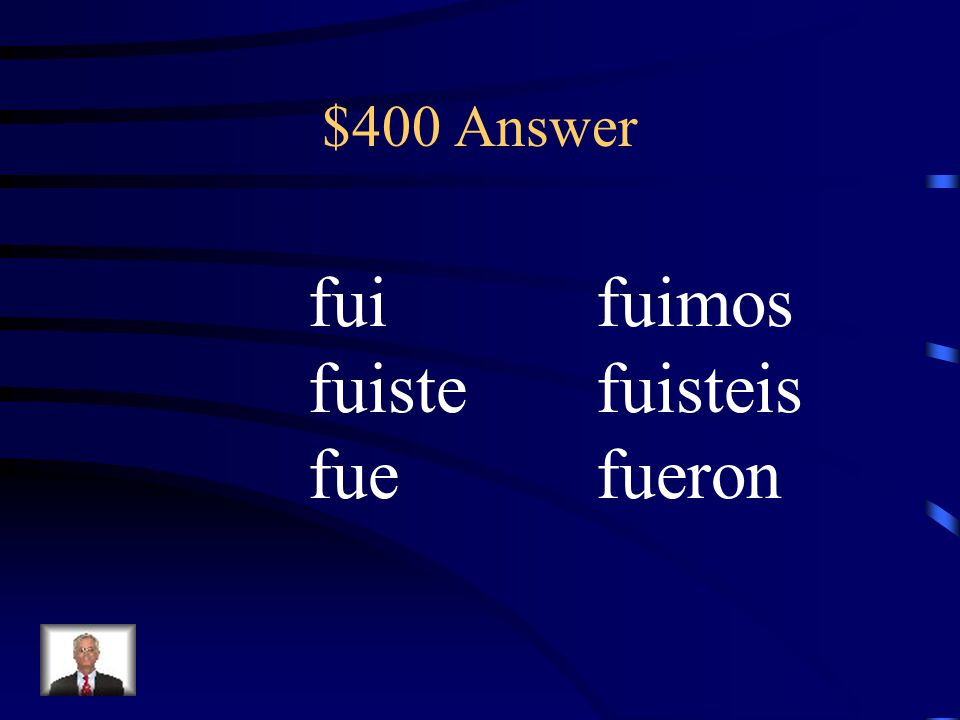 $400 Question Conjugate ir