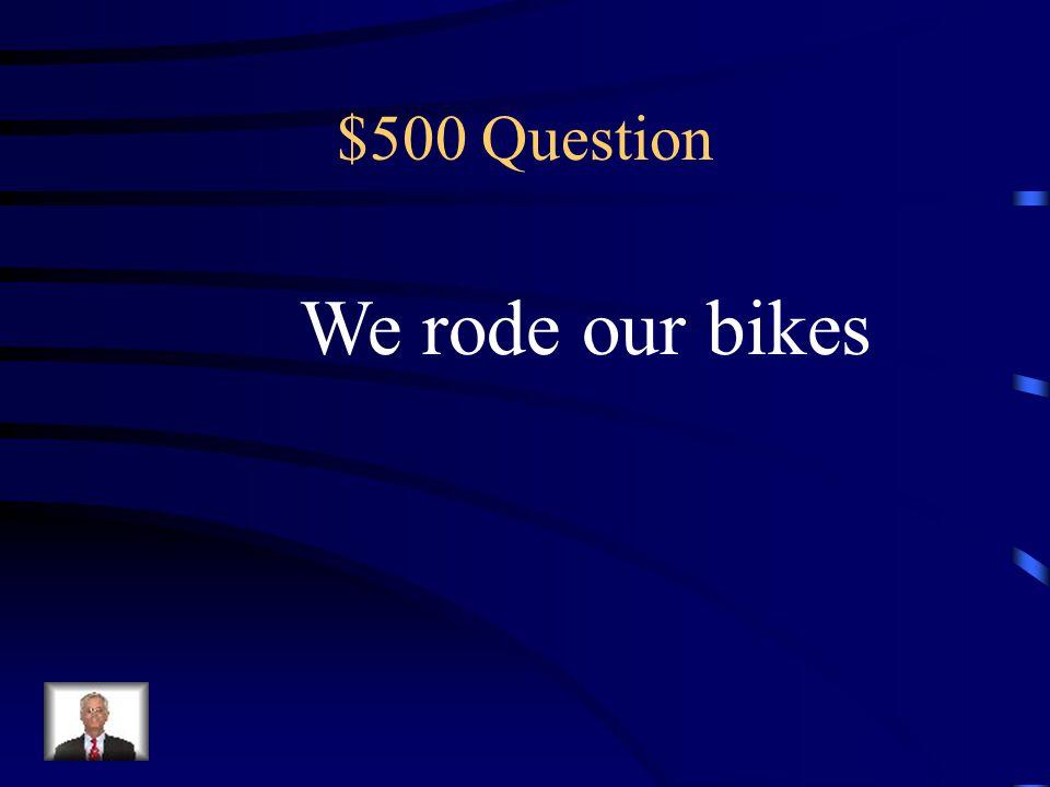 $400 Answer Hiciste tu tarea