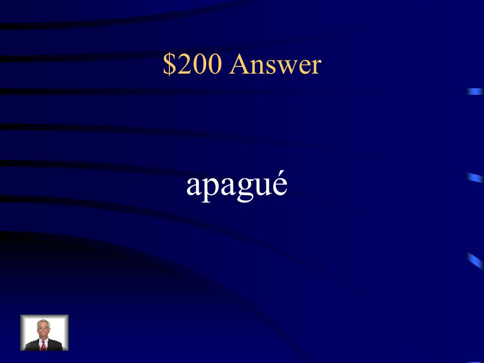 $200 Question What's the ending change for apagar