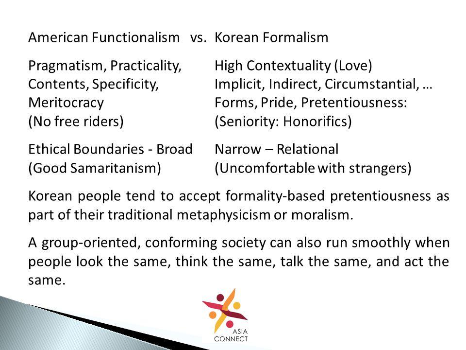American Functionalism vs.