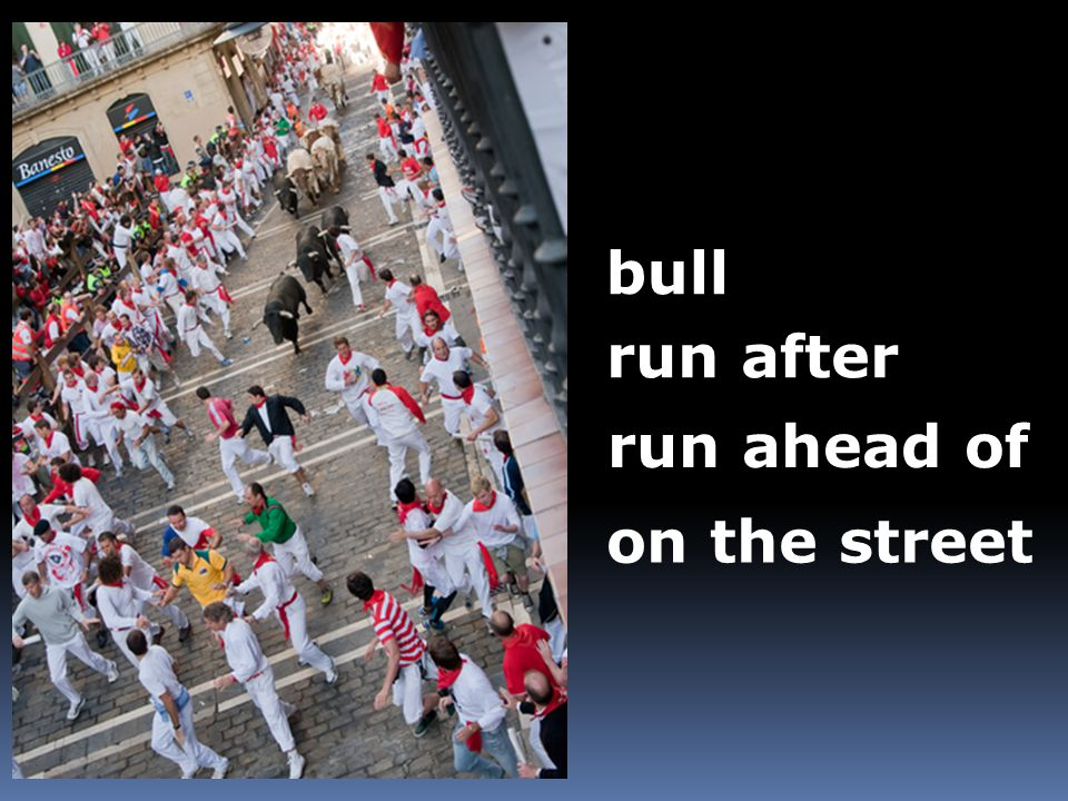 bull run after run ahead of on the street