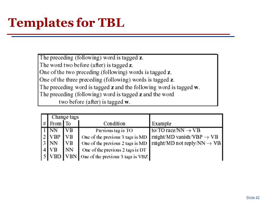 Slide 42 Templates for TBL