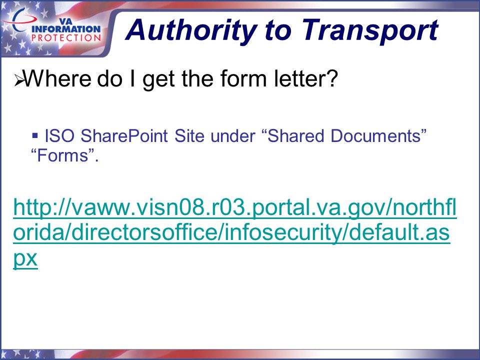 Authority to Transport  Where do I get the form letter.