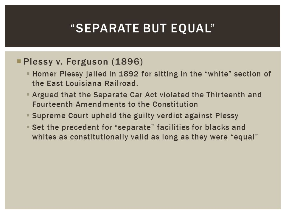  Civil Rights Act of 1957: Nominally outlawed racial segregation and created a civil rights division within the Justice Department.