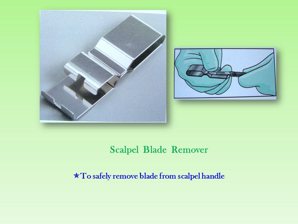 Tissue scissors  To cut tissue