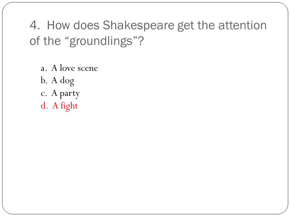 10.Where do Romeo and Juliet first see each other.