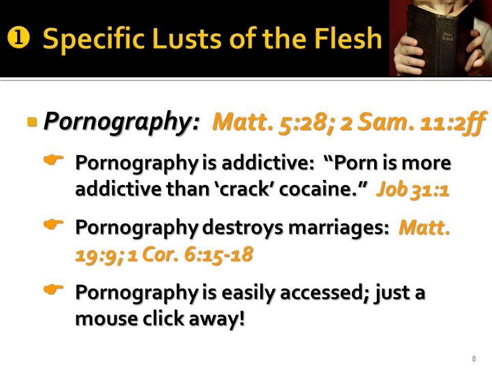  Pornography: Matt. 5:28; 2 Sam.