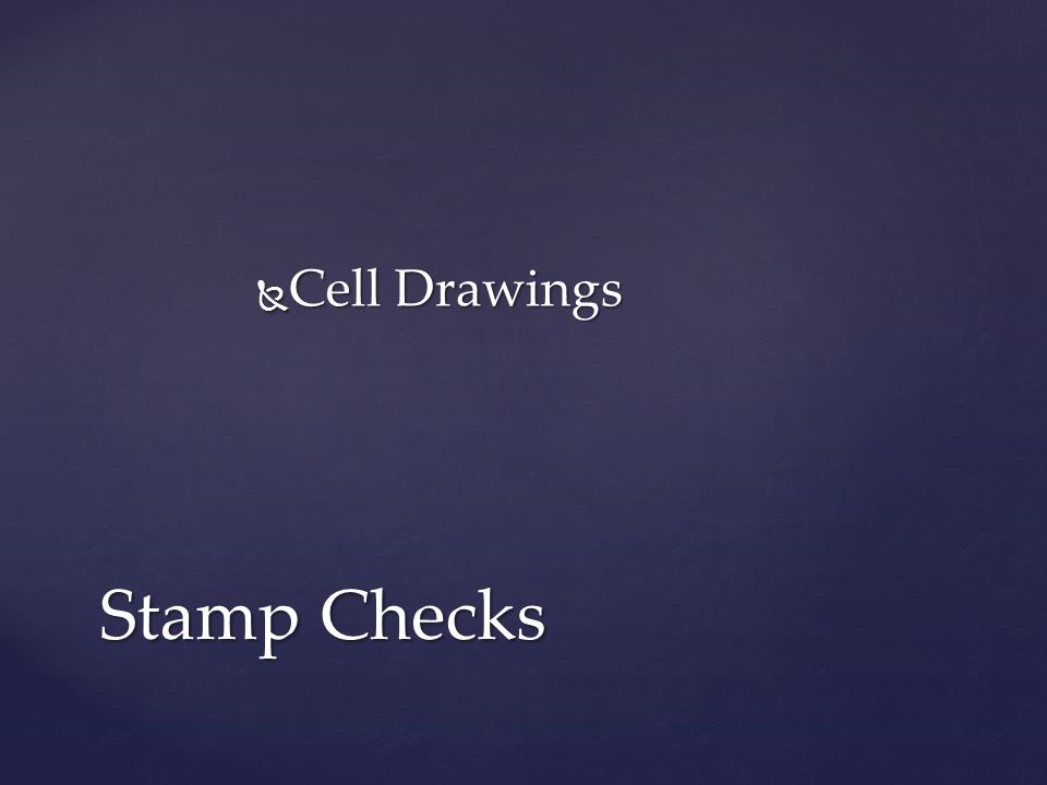  Cell Drawings Stamp Checks