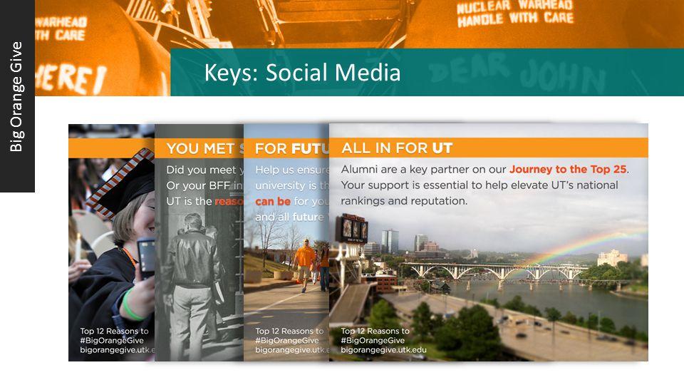 Keys: Social Media Big Orange Give
