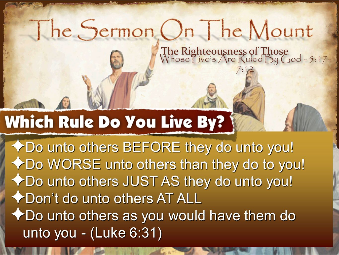 3434 The Kingdom Citizen & The Extra Mile - ✴ How we should respond to those who have authority over us - even if they abuse their power - (1 Pet 2:18-21; also see Acts 5:29) ✴ The characteristics envisioned here - meekness, long-suffering and patience - (1 Pet 2:20) ✴ Do good - even if doing good is not deserved by the one demanding it.