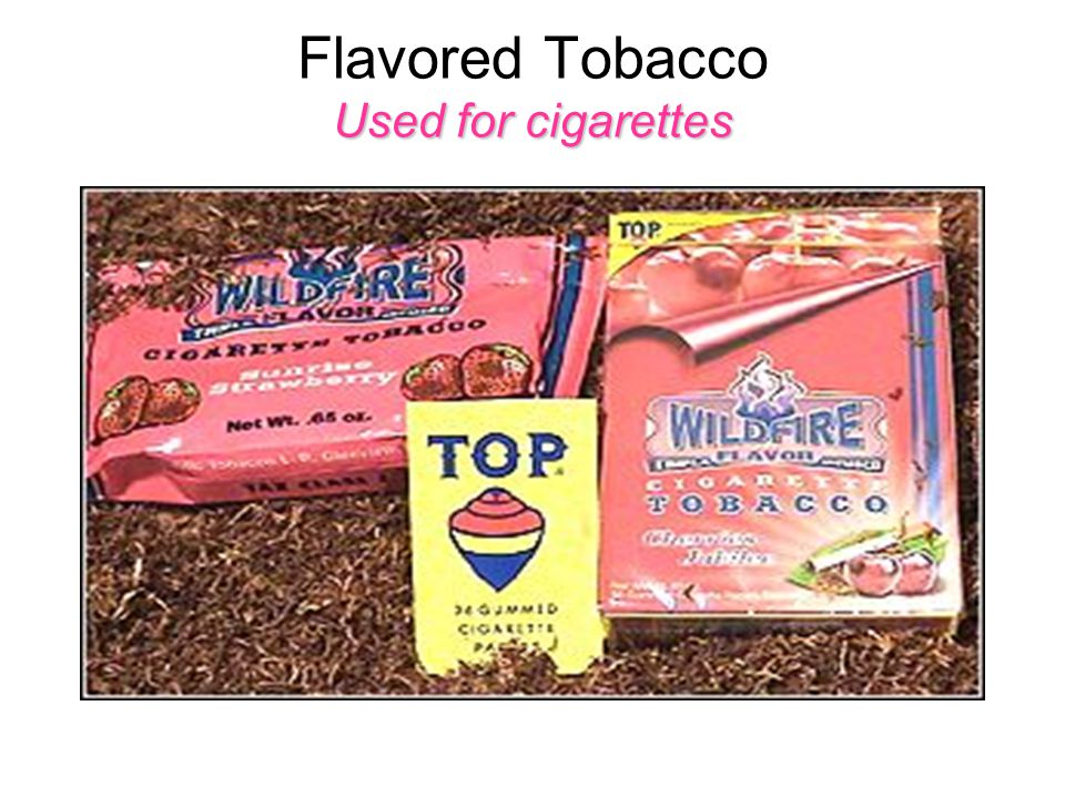 Used for cigarettes Flavored Tobacco Used for cigarettes