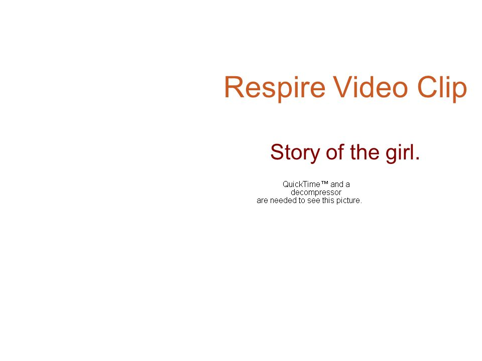 Respire Video Clip Story of the girl.