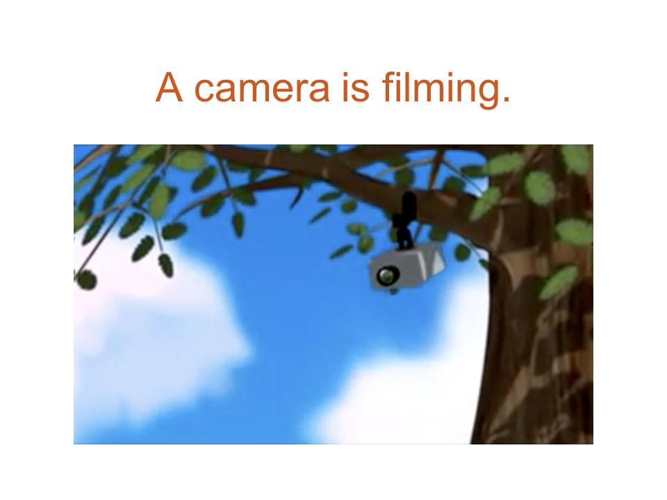 A camera is filming.