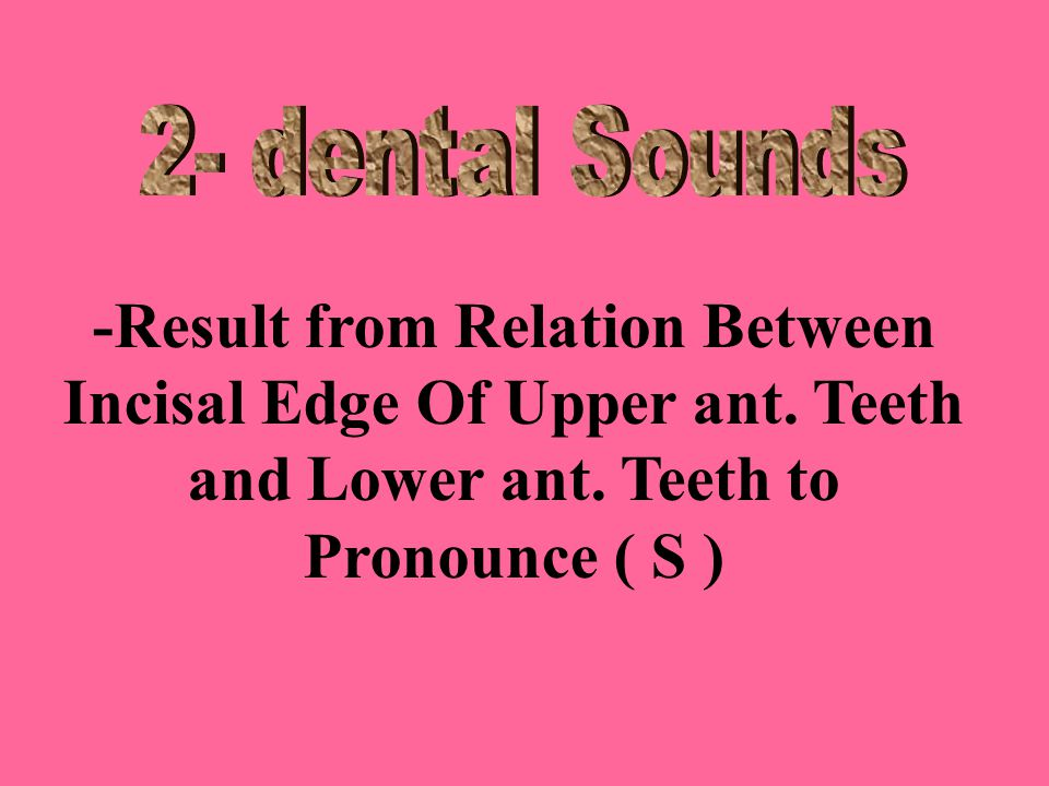 -Result from Relation Between Incisal Edge Of Upper ant.