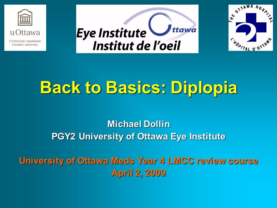Outline What is diplopia.