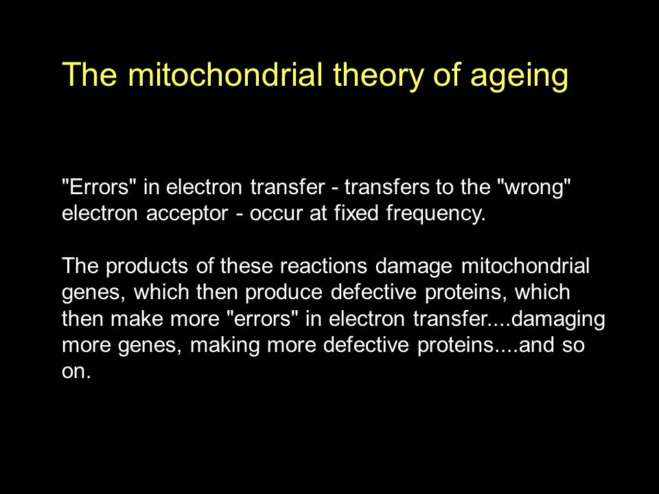 Errors in electron transfer - transfers to the wrong electron acceptor - occur at fixed frequency.