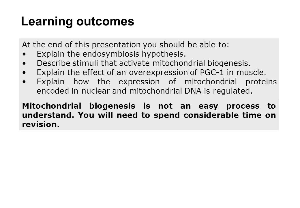 Mitochondrial biogenesis Part 4 Mitochondrial genetics